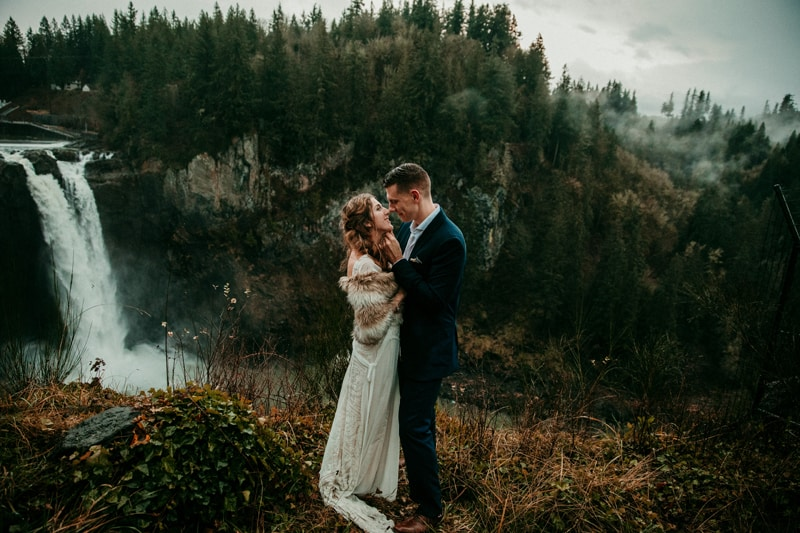Snoqualmie Falls | Washington elopement photographer