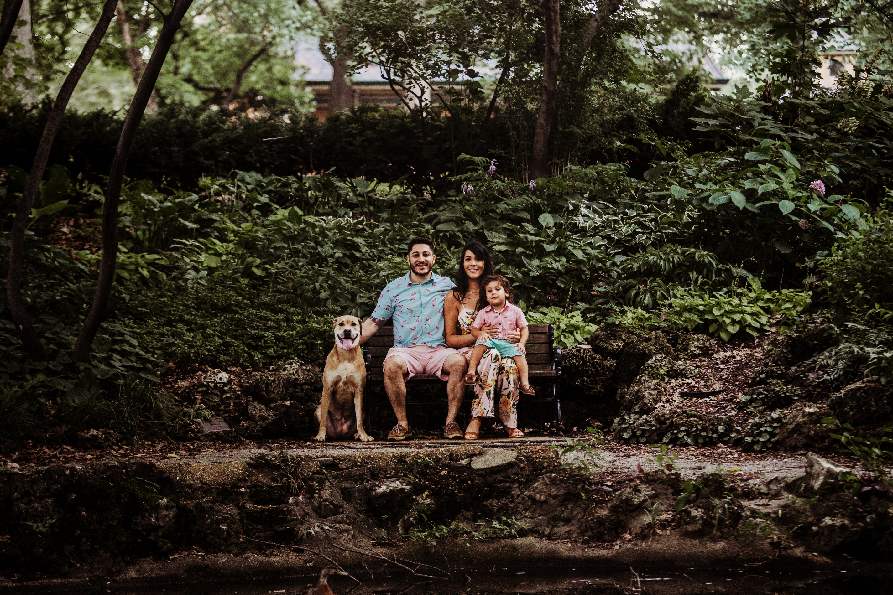 Family Photography and Children Photography, family with their dog