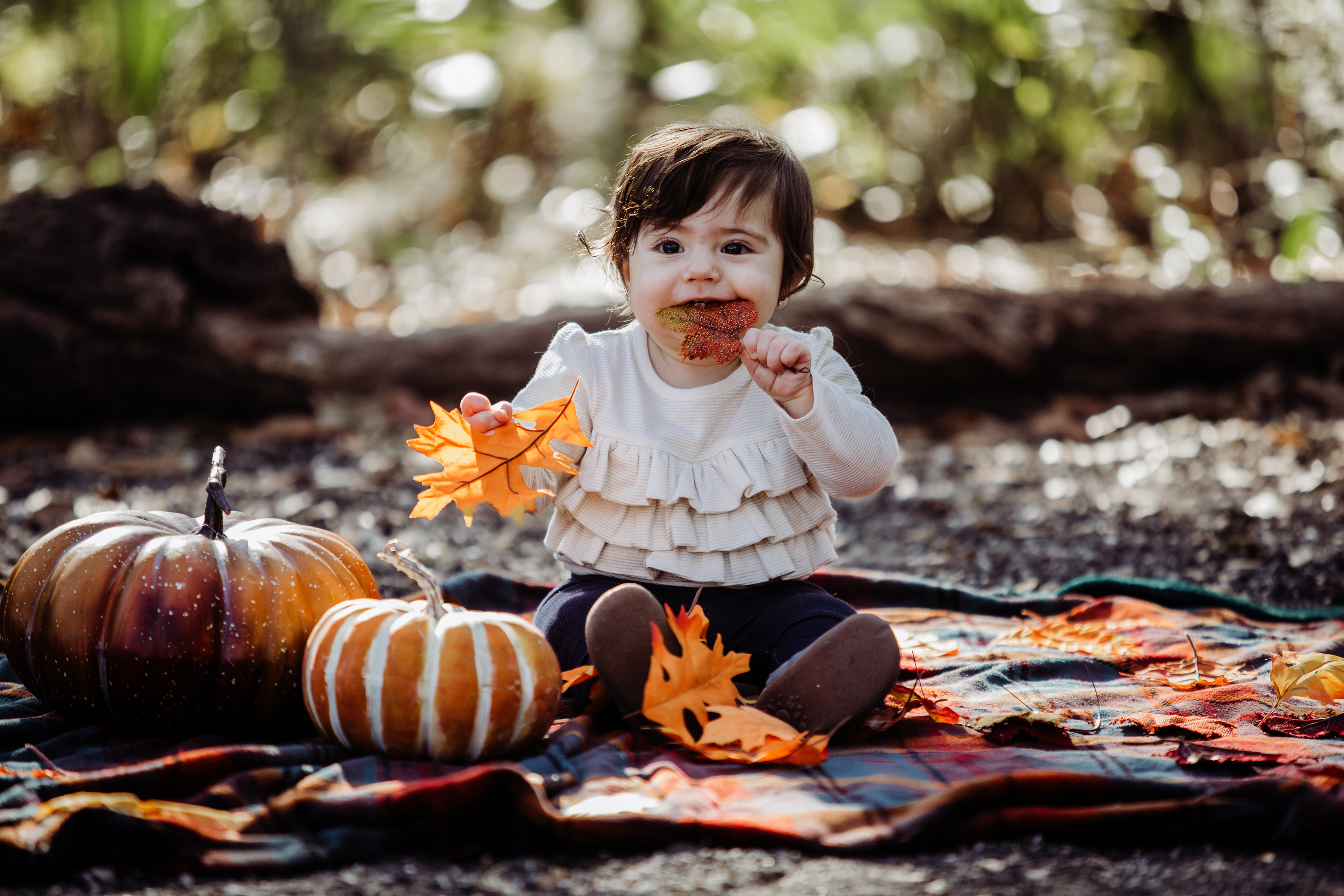 Family Photography and Children Photography, little child with pumpkins