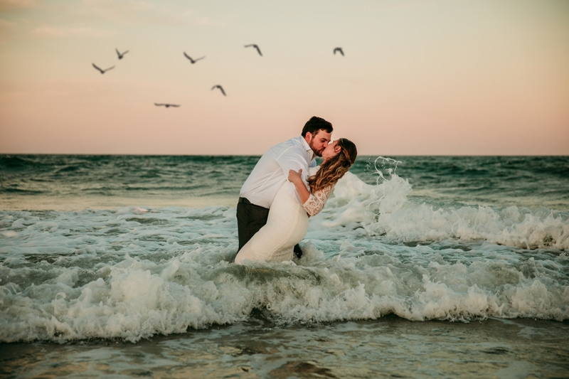 Jacksonville Beach Wedding Photographer | Beach Elopement