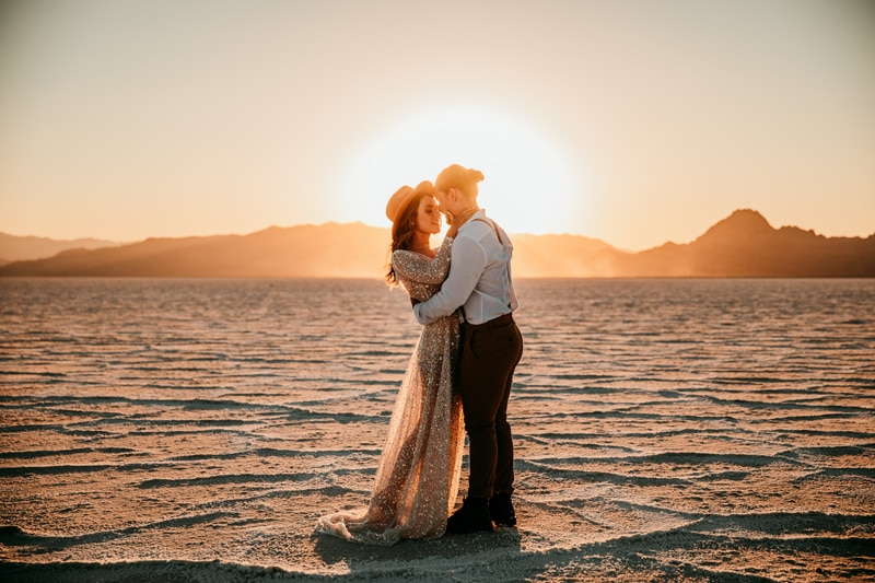 Adventure Elopement Photographer | Bonneville Salt Flats Elopement