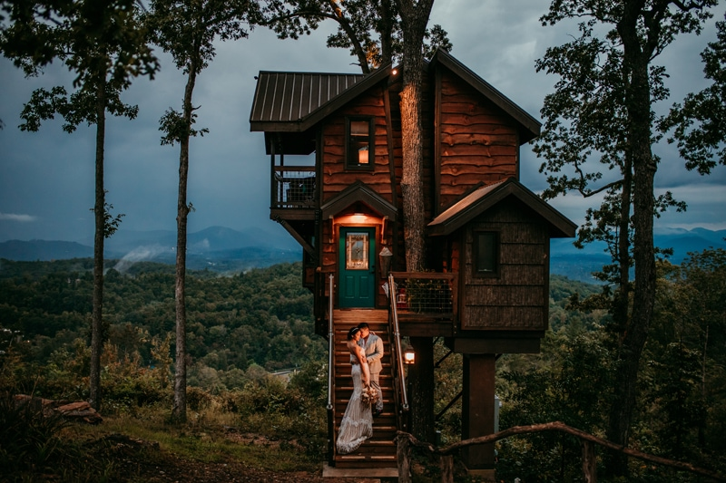 Asheville Treehouse Mountain Elopement | North carolina elopement photographer