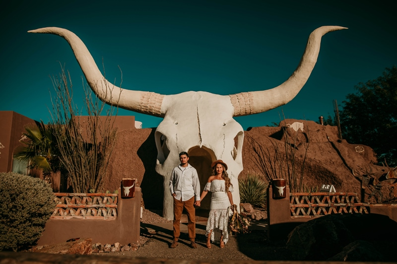 Arizona Wedding Photographer | Desert engagement photos