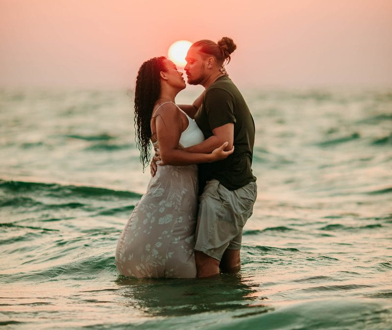 Siesta Key Photographer | Beach couples session